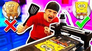 MAKING PANCAKE ART AGAINST A PANCAKE ROBOT!