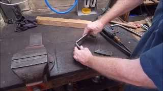 How to easily make a small radius bend in flat steel bar