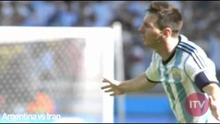 Messi All Goals in World Cup 2014 Group Stage