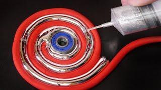 DIY Gallium Fidget Spinner Spiral Swirl