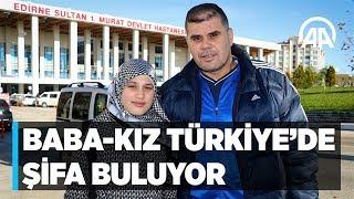 Diyabet hastası Suriyeli baba kız Türkiye