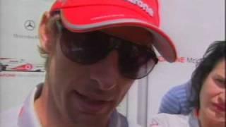 Jenson Button BBC Interview About His Armed Attack Before Brazil F1 GP 2010 HQ Full Version