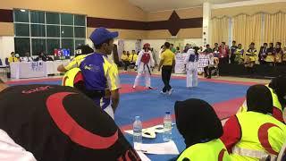 Taekwondo Sukipt 2018- Farah Qistina vs Nurnatasha