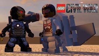 EPIC BATTLE!!! Lego Civil War - War Machine vs Falcon