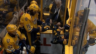 Stars & Predators get rough early, rack up six penalties in first 45 seconds