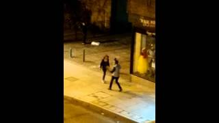 Vile drunk woman knocks herself out!!