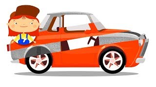 Doctor McWheelie and the rusty car. Car cartoons for kids.