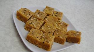 Mohanthal  Recipe Video - Besan Burfi  - Gram flour Fudge - Indian Recipes by Bhavna