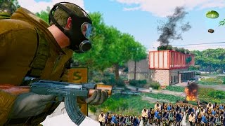 GTA 5 ZOMBIE MOD! Fighting 1,000 Zombies Horde & Base Raid (GTA 5 Mods)