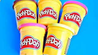 Learn Colors Play Doh Cars Peppa Pig Сaterpillar Minion Surprise Toys Kids Finger Family Song