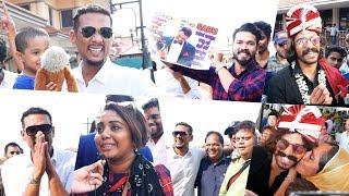 ബിഗ് ബോസ്സ് താരങ്ങൾക്ക്  എയർപോർട്ടിൽ വമ്പൻ വരവേൽപ്പ്   Bigg Boss Contestants At Cochin Airport