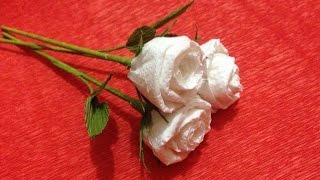 How to Make Rose Tissue Paper Flowers   Flower Making of Tissue Paper   Paper Flower Tutorial