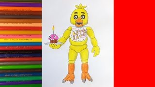 How to draw Chica, FNAF, Как нарисовать Чику