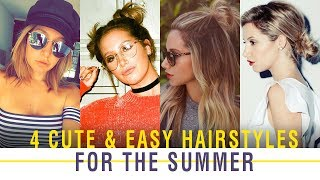 4 Cute & Easy Hairstyles for the Summer | Ashley Tisdale