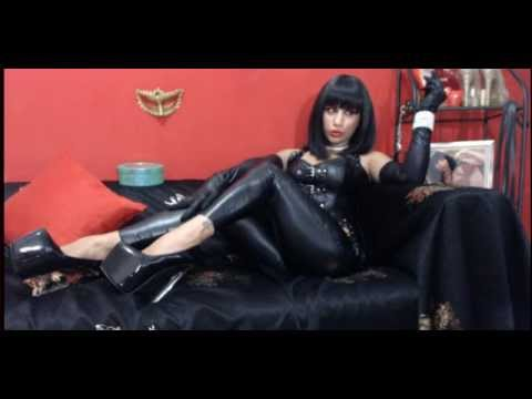 Dark Goddess Smoking in Sexy Leather 2