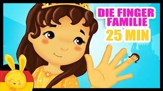 Die Finger-Familie und weitere 25 min Kinderlieder zum mitsingen - German Finger Family
