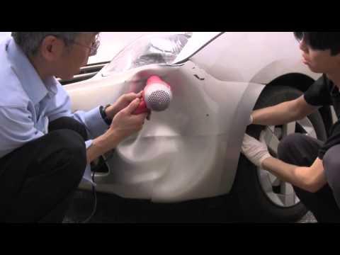 Cómo reparar un choque en tu auto con una secadora