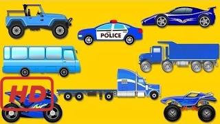 Songs for kids |  Learning colors | Street vehicles for children