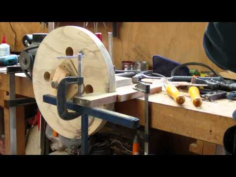 Turning the Bandsaw Wheels.avi