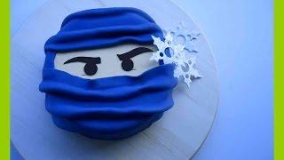 Ninjago Fondant Torten Tutorial - Ninjago Torte - Einfache Ninjago Torte - Kuchenfee