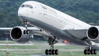 28 HEAVY LANDINGS and Departures in 10 Minutes - Boeing 747, Airbus A350, Boeing 787 ...