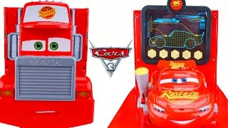 NEW DISNEY CARS 3 HUGE! MACK MOBILE TOOL CENTER HAULER TRAILER PIT STOP LIGHTNING PISTON CUP RACE
