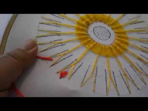 puntada fantasia flor de sol 2