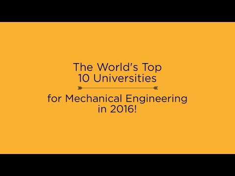 Top 10 Universities for Mechanical Engineering in 2016