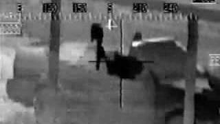 OH-58 Kiowa Helicopter Night Video of Couple