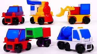 Learn Colors with Magnet Toy Car Vehicles for Children