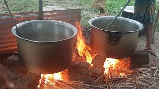600 Peoples Chicken Biryani (Hodgepodge) Cooking | Charity Food | Feed To All Villagers