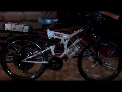 Polaris Ebike Converted with MagicPie3 Motor and 48v Battery