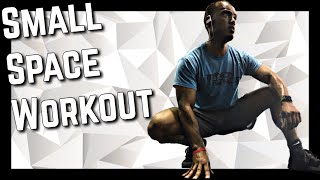 Small Space Hotel Exercises | Fat Burning Workout for Beginners | No Equipment Body Weight Training