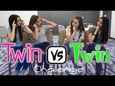 Twin vs Twin Challenge   ft. the MerrellTwins