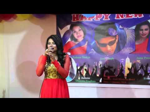 juna Prasai   Happy New  2016 Programme In Qatar selfie Production