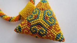 Návod - Peyote trojúhélník 3D /Tutorial - Peyote triangle 3D
