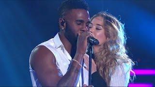 Jason Derulos superframträdande under fredagsfinalen av Idol - Idol Sverige (TV4)