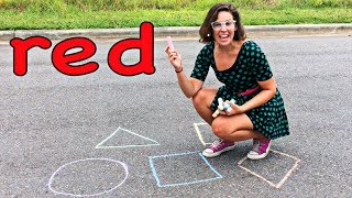 #1 Best Toddler Learning Videos for Kids Learn Fun Colors & Shapes Sidewalk Chalk for Children