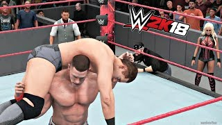 WWE 2K18 Gameplay   The Miz (with Miztourage) vs John Cena Intercontinental Championship Match