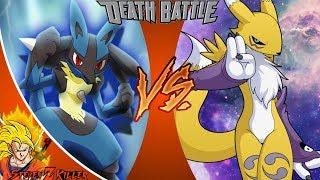 Lucario VS Renamon _ DEATH BATTLE! REACTION!!!
