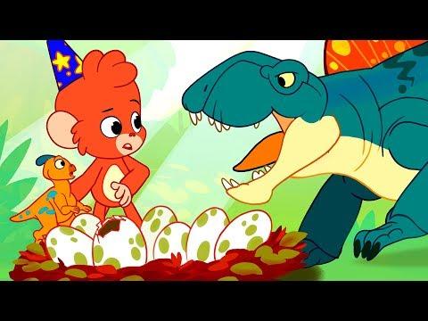 Dinosaur Battle | Dinosaurs for kids | Dimetrodon fighting Parasaurolophus | Club Baboo