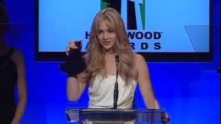 Jennifer Lawrence at the Hollywood Film Awards