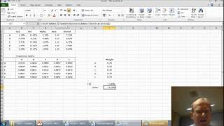 Optimal portfolios with Excel Solver