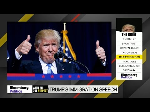 Donald Trump Reverts to Form in Immigration Speech