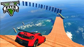 GTA V Online: PARKOUR no MAR COM CARROS! - Corrida INSANA #604