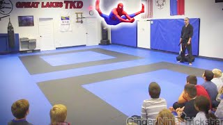 🕷️ SPIDERMAN Visits Great Lakes TKD | Flips & Kicks