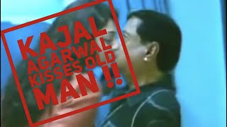 Kajal Agarwal kiss old man !!