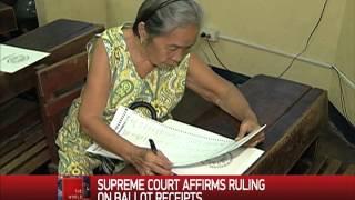 Supreme Court affirms ruling on ballot receipts