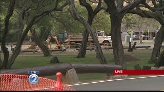Water line break closes commercial parking lot at Hanauma Bay