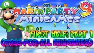 Mario Party 9 Minigames - First Half: Part 1 (Free-For-All Minigames)